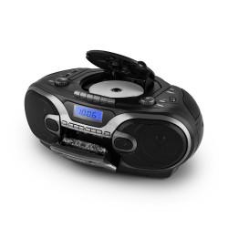 Портативный стерео проигрыватель AUNA RCD 230 CD MP3-USB SD КАССЕТЫ AM/FM