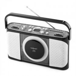 Портативный проигрыватель компакт-дисков ONEconcept Boomtown MP3 USB Радио