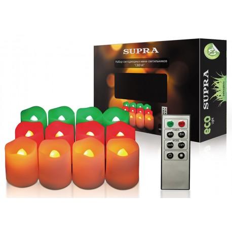 Декоративные свечи SUPRA LC-12RGY