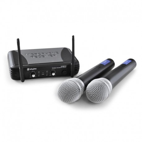 Беспроводные микрофоны SkyTec STWM722 с приемной станцией