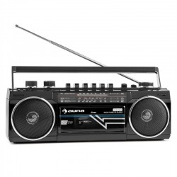Проигрыватель auna Duke Boombox Bluethooth, USB, SD