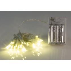 Гирлянда с 50 светодиодами на батарейках
