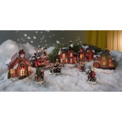 Рождественская деревня с освещением - 9 предметов
