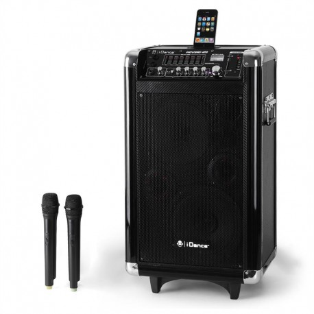 Портативная активная колонка iDance Moving-120 Portable DJ PA Karaoke System iPhone/iPod Dock USB SD