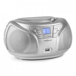 Проигрыватель ONEconcept Groovie RD BOOMBOX BLUETOOTH CD FM MP3 AUX