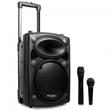 Портативная активная акустическая система Ibiza Port8VHF-BT 400W