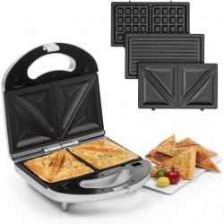 Сэндвичница со сменными пластинами Klarstein Trilit 3-in-1 750W