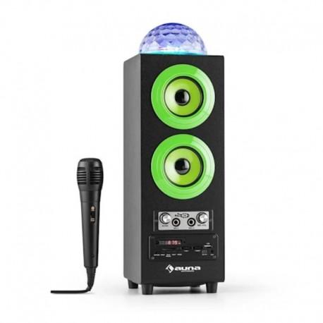 Колонка караоке с дискошаром Auna DiscoStar Green Bluetooth