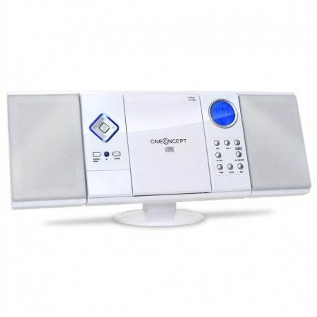 Проигрыватель oneConcept MCD-187 Micro-Steroanlage OneConcept V-12 Stereo System MP3 CD Player USB SD AUX - White