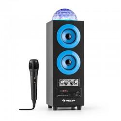 Колонка караоке с дискошаром Auna DiscoStar Blue Bluetooth