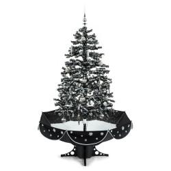 Новогодняя елка с симуляцией снега и украшениями