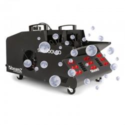 Дым машина с мыльными пузырями и светодиодами Beamz SB2000LED